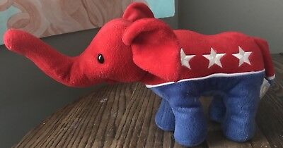 Republican Political Party ELEPHANT Plush GOP Smithsonian Museum Patriotic TRUMP