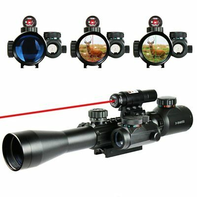 3-9x40 EG R&G Hunting Rifle Scope, w/ Holographic Red Sight + Red Laser Sight