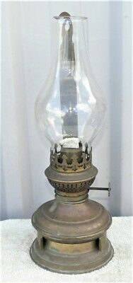 Vintage brass kerosene wall lamp, new wick fitted, can be used, spring holder.