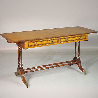 Sofa Table / Hall Table - Reproduction - Rosewood & Satinwood delivery available