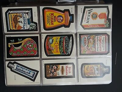 Lot of 60 Topps Wacky Cards Vintage 1979 Mrs. Klean Vicejoy Liptorn Ultra Blight
