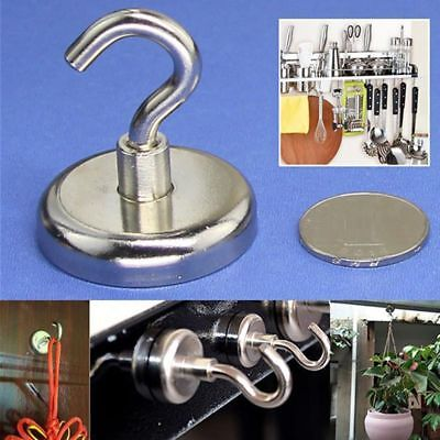 Magnetic Hooks Heavy Duty Magnet Refrigerator Surfaces Not Scratch Holders 4pcs