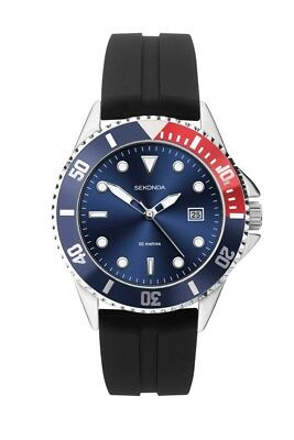 Sekonda Mens Blue Dial Rubber Strap Sports Watch 1623 RRP £59.99