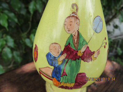 Antique Late 18th Century Hand Painted Porcelain Vase w/Chinese Figures!Very Old