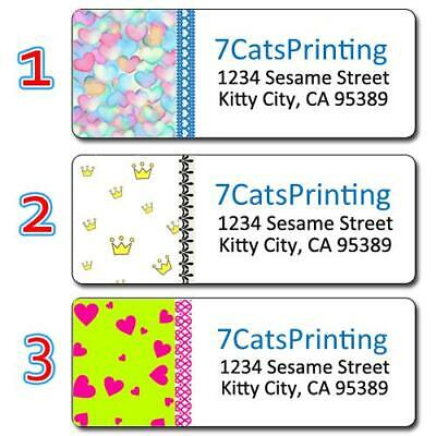 30 Personalized Colorful Return Address Labels Or ANY Graphic and 4 Line Text