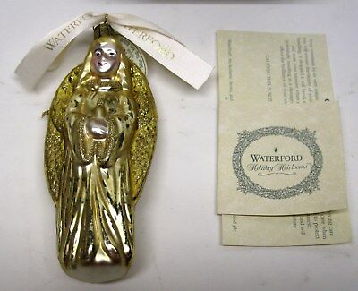 Waterford Holiday Heirlooms Christmas Angel Mouth Blown Hand Decorated Ornament