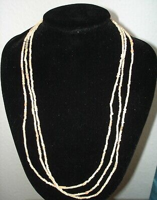 Wearable Ancient Coptic Beige Terracotta Bead Rosary Necklace
