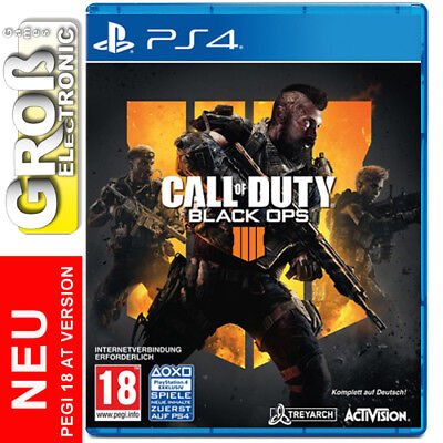 Call of Duty Black Ops 4 COD PS4 Playstation 4 AT 18 Komplett auf DEUTSCH NEU