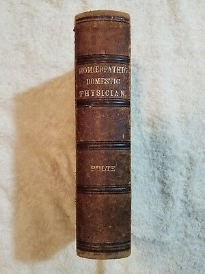 J.H. Pulte Homeopathic Domestic Physician Antique Medical Book 1879~13th Edition