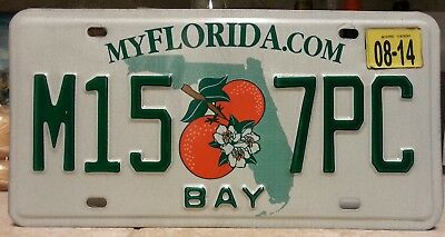 2014 Florida Bay County license plate tag NO RESERVE!!!!