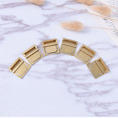 6Pcs Copper Color Bookmark Metal Index Clamp Label Clip Paper for Student N7