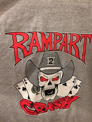 LAPD Los Angeles Police LASD GANG shirt RAMPART T Size XXL Dark Gray