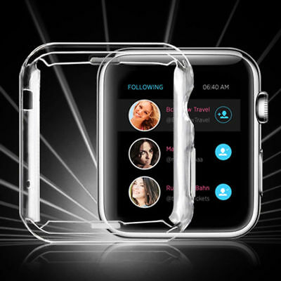 Waterproof Case Cover TPU Screen Protector For Apple iWatch Series 3 2 1 38mm US