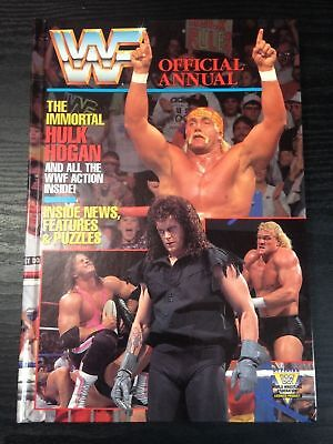 WWE WWF OFFICIAL ANNUAL 1992 1990s Wrestling Magazine Book