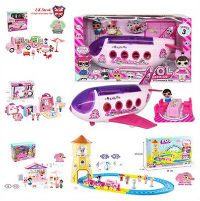 8 Type DOL LOL Surprise Doll Park Home Game slide Playset Baby Kids Gift Toy