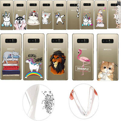 Ultra Thin Pattern Clear Soft TPU Case Cover For Samsung Note 9 S9 A750 J4 A6 S8