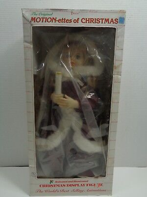 """1997 TELCO Motionettes Christmas Southern Belle Animated Illuminated Figure 24""""*"""