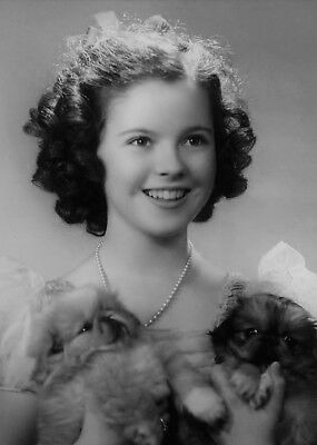 Shirley Temple with dogs & hats rare lot of 4 child movie star 5x7 photos