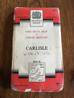 vintage ordnance survey map Carlisle Sheet 76