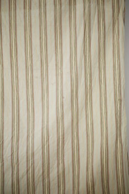 Antique French LONG stunning LINEN TICKING pannel c1900