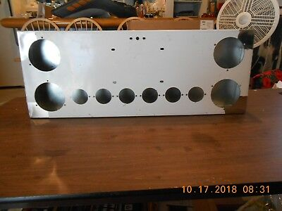 "SS Rear Center Panel with 4-4"", 6-2"", License Plate and Tag Light Holes"