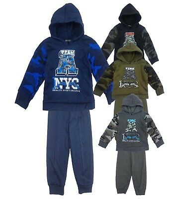 Kids Boys Tracksuit Jog Set Team A New York Hooded Top & Joggers Age 1-6 Years