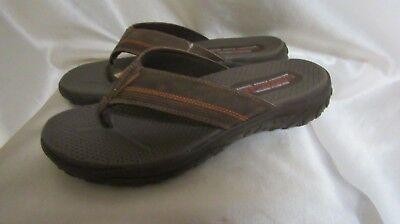 cheap for sale best cheap newest selection SKECHERS BROWN SUEDE, Relaxed FIT 360 Memory Foam Sandals ...