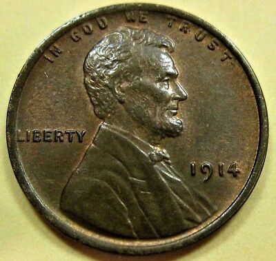 1914 P Lincoln Cent Wheat Penny ---- Higher Grade Better Date