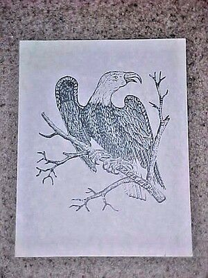 """Parson Jonathan Fisher woodcut print """"Eagle"""" embossed stamp & """"Limited Edition"""""""