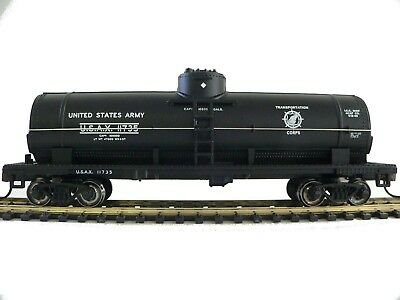 HO Scale Model Railroad Trains Layout Bachmann US Army Tanker Car Rolling Stock