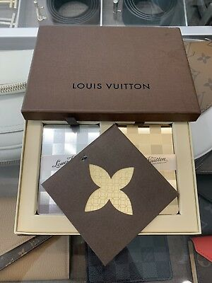 LOUIS VUITTON GOLD & SILVER Poker Playing Cards 2 Decks With Box And papers