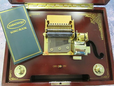 Gold Label Harmonique Music Box With Song Booklet