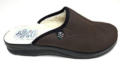 Fly Flot 82920 Kl Col T.moro Ciabatte Pantofole Uomo Fodera Lana Made In Italy