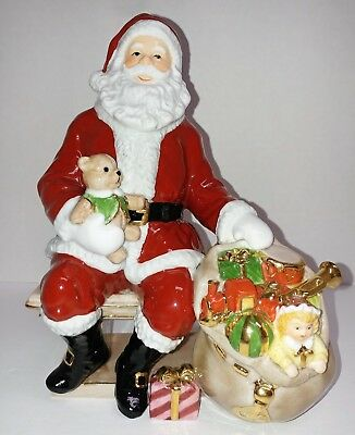 "Royal Doulton Holiday Traditions Santa 7.75"" T x5.5""w  Figurine Limited Edition"