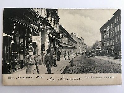 AK Wien 1904 - Favoritenstrasse mit Spital