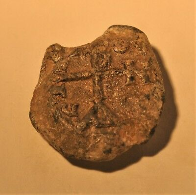 Authentic Ancient Byzantine Lead Seal Stamp