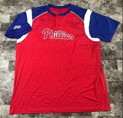 8723fdaf4 VINTAGE PHILADELPHIA PHILLIES T-shirt Shirt Men s Size 2XL XXL Red ...