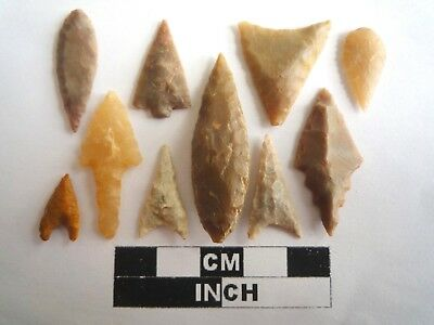 Neolithic Arrowheads x 10, High Quality Selection of Styles - 4000BC - (2128)