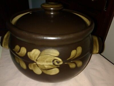 A Retro Denby Stoneware Bakewell Pattern 4Pt Casserole Dish-Great Condition