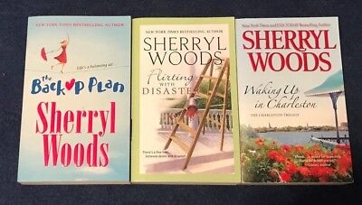 LOT of 3 CHARLESTON TRILOGY by SHERRYL WOODS, Waking Up In Charleston