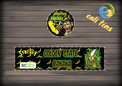 10x Golden State Banana 60ml Cali Tin JAR labels