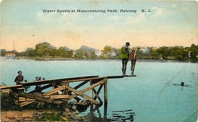 New Jersey Postcard: Water Sports At Musconetcong Park, Netcong, Nj