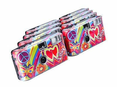 TopShot Love Cult Disposable Camera / 27 Photos/Flash / Pack of 8