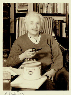Albert Einstein Original Signed Photo Autograph Autogramm Signiert Foto Portrait