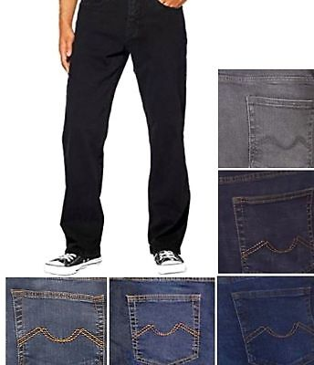 Urban Star Men's Relaxed Fit Stretch Straight Leg Jeans Pants