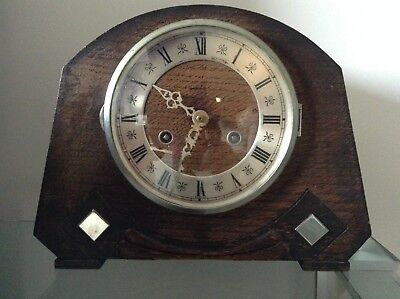 Antique Wood Mantelpiece Clock - For parts not working