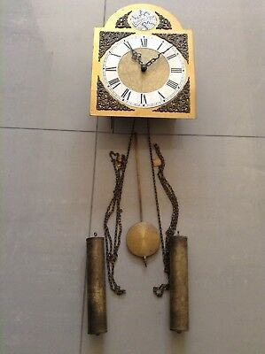 Antique Metal Ornate Mantelpiece Clock - For parts not working