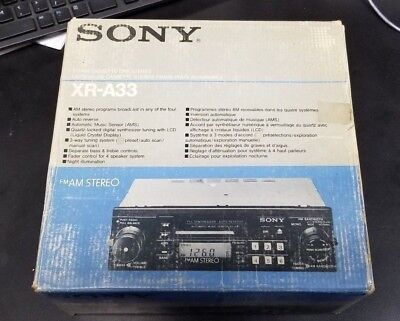 Sony XR-A33 Car Radio Cassette Player FM-AM Stereo