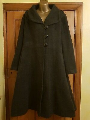 Lovely 40's 50's Style Frock Coat From Laura Ashley Size 16-18 (L) Vintage/Retro
