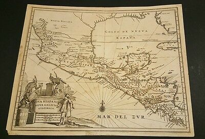 1740's ORIGINAL MEXICO NEW HISPANIA MAP